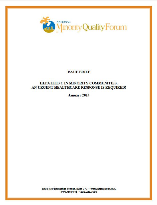 Forum Issue Brief on Hepatitis C in Minority Communities